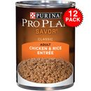Purina Pro Plan Savor - Chicken & Rice Entr�e Canned Adult Dog Food (12x13 oz)