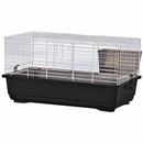 """Rabbit/Guinea Pig Cage Black Base with White Wire Case of 4 (39""""x22""""x18"""")"""