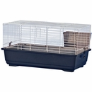 """Rabbit/Guinea Pig Cage Blue Base with White Wire Case of 4 (24""""x13""""x13"""")"""