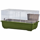 """Rabbit/Guinea Pig Cage Green Base with White Wire Case of 4 (24""""x13""""x13"""")"""