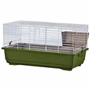 """Rabbit/Guinea Pig Cage Green Base with White Wire Case of 4 (39""""x22""""x18"""")"""