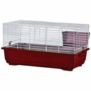 """Rabbit/Guinea Pig Cage Red Base with White Wire Case of 4 (47""""x23""""x20"""")"""