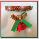 Rhinestone Dog Collars - Christmas Bells & Red Velvet