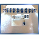 Rhinestone Dog Collars - Merry in Blue