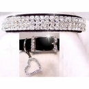 Rhinestone Dog Collars - Sweetheart in Black Velvet