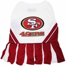 San Francisco 49ers Cheerleader Dog Dress - Medium