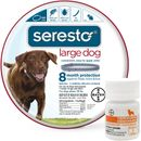 Seresto Flea & Tick Collar for Large Dogs + Tapeworm Dewormer for Dogs (5 Tablets)