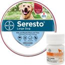 Seresto Flea & Tick Collar for Large Dogs, 1 Ct & Tapeworm Dewormer, 5 Ct