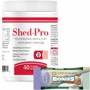 Shed-Pro Granules for Dogs (40 servings) + Free BONIES Natural Calming Formula MINIS 2 BONE PACK (0.7 oz)