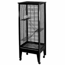 """Small Animal Cage on Casters - Platinum/Black (24""""x19""""x61"""") 4 Level"""