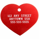 Small Heart Pet ID Tag