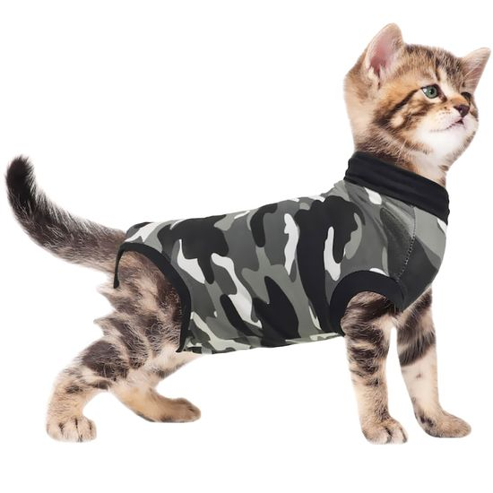 Suitical Recovery Suit for Cats Camo - XSmall