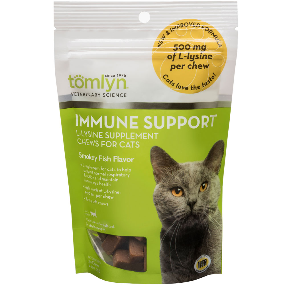 Tomlyn® L-Lysine Immune Support Supplement Chews for Cats