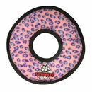Tuffy's Ultimate Ring Pink Leopard Dog Toy