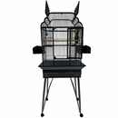 """Victorian Open Top Bird Cage - Stainless Steel (26""""x20""""x65"""")"""