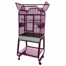 """Victorian Top Bird Cage with Plastic Base - Burgundy (22""""x18""""x62"""")"""