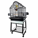"""Victorian Top Bird Cage with Removable Stand - Black (22""""x18""""x62"""")"""