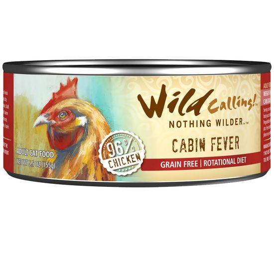 Wild Calling Cabin Fever Canned Cat Food - Chicken (5.5 oz)