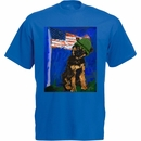 Women's T-Shirt - Ori Bengal Exclusive - K-9 Veterans Day - Small (Royal)