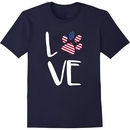 Women's T-Shirt - Patriotic Love - Large (Navy)