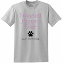 Women's T-Shirt - Sweetest Human Ever - Medium (Ash)