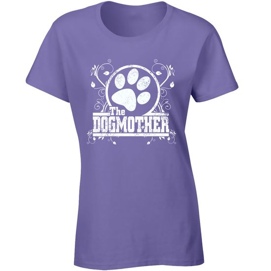 Women's T-Shirt - The Dogmother - Large (Lilac)