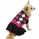Zack & Zoey Argyle Prep Sweater Dress Pink