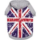 Zack & Zoey Distressed British Flag Hoodie - Small/Medium
