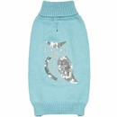 Zack & Zoey Elements Shimmer Owl Sweater - Blue (Small)