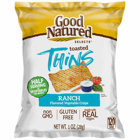 Good Natured Baked Ranch<br> Vegetable Crisps  (30) 1 oz. bags per case