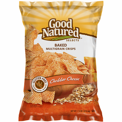 Good Natured Cheddar Cheese Baked Crisps (12)  7.5 oz. bags per case
