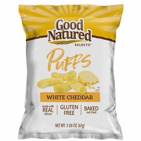 Good Natured Selects White Cheddar Puffs 2.375 oz. (20) bags per case