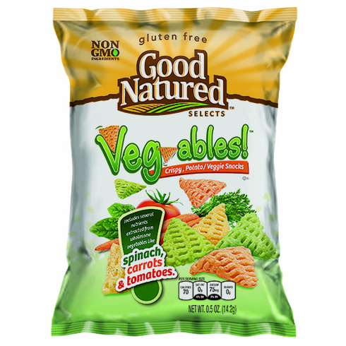 Good Natured Veg-ables (30) - 0.5 oz. bags per case.