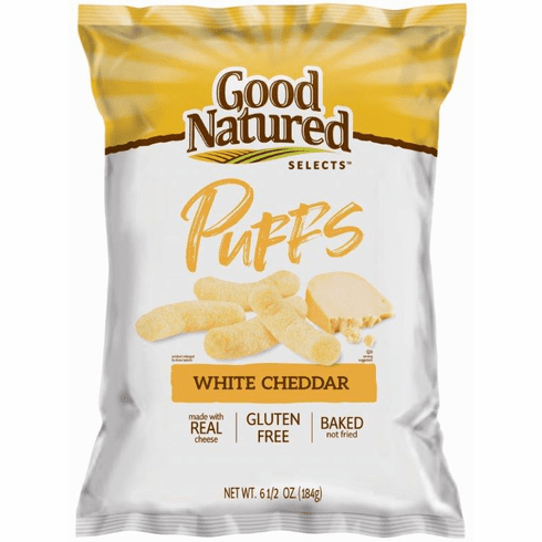 Good Natured Selects White Cheddar Puffs 6.5 oz. (12) bags per case
