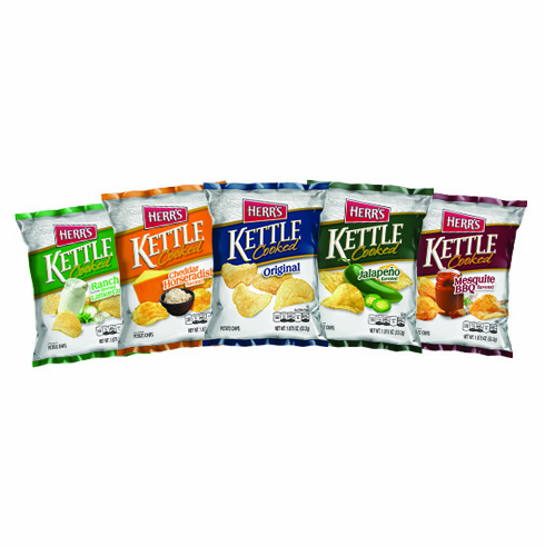 Herr's® Assorted Kettle Potato Chips  (24) 2.625oz.