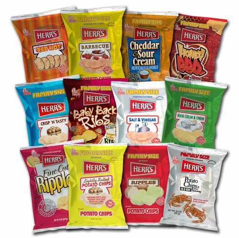 Herr's® Assorted Potato Chips 9 to 9.5 oz. Bags Choose (9) bags