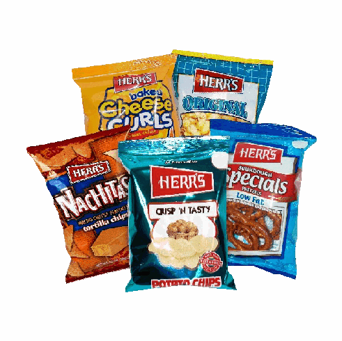 Herr's® Assorted Snacks - Single <br> Serve (42 bags)
