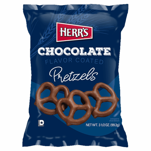 Herr's® Chocolate Flavored Pretzels (18) 31/2 oz. Bags per case