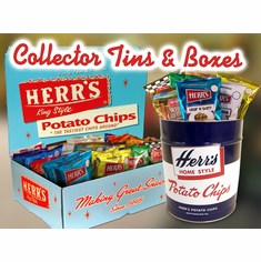 Herr's® Collectible Gift Boxes <br />and Retro Tin