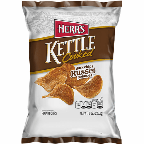 Herr's® Dark Russet Kettle <br>Cooked Potato Chips  (12) - 7.5 oz. <br>bags per case