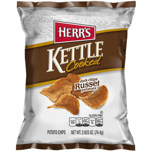 Herr's® Dark Russet Kettle Cooked <br>Potato Chips  (24) 2.625 oz. bags<br> per case