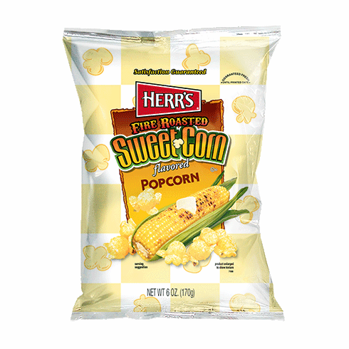 Herr's® Fire Roasted Sweet Corn Popcorn (9) 6oz. bags per case.