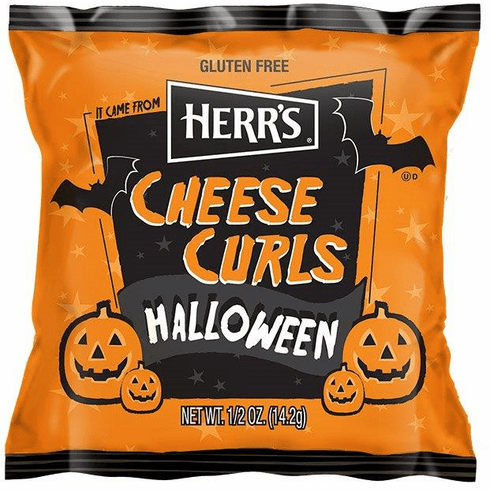 Herr's® Halloween Cheese Curl<br>Treat Pack <br>(42 or 84) 1/2 oz. bags per case