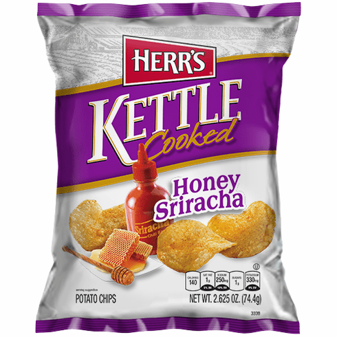 Herr's® Honey Sriracha Kettle Potato Chips (24) 2.625 oz. per case