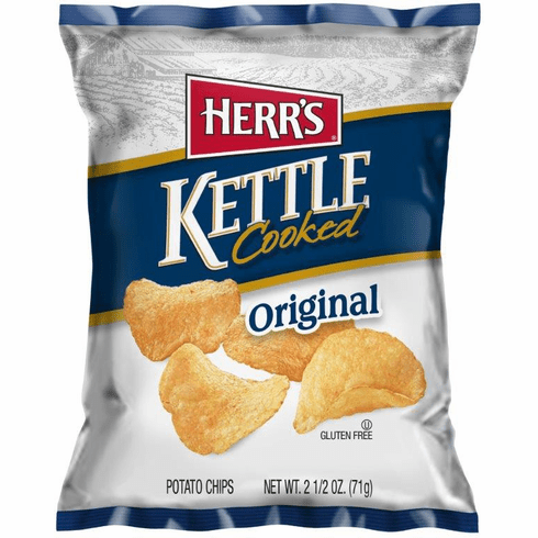 Herr's® Kettle Cooked Chips  (24) - <br>2.5 oz bags per case