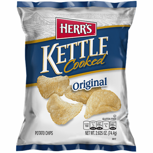 Herr's® Kettle Cooked Chips  (24) - 2.625 oz bags per case