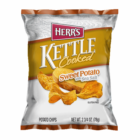 Herr's® Kettle Cooked Sweet Potato Chips with Sea Salt (20) 2.75 oz. Bags per case