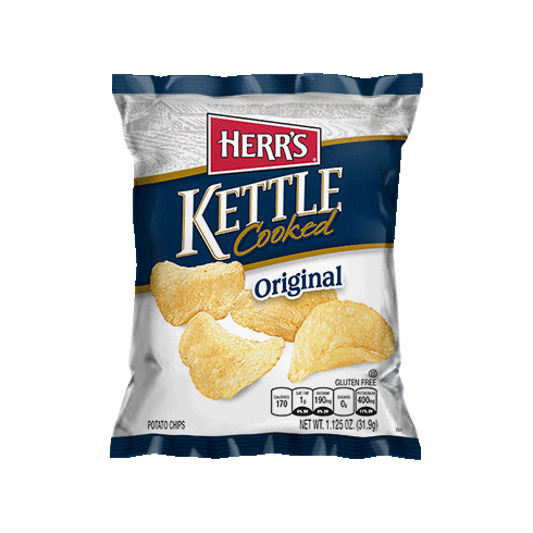 Herr's® Kettle Potato Chips (30) 1.125 oz. bags per case.