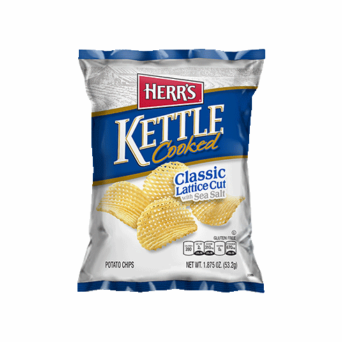 Herr's® Lattice Cut Kettle Cooked Potato Chips (24) 2.625 oz. bags per case
