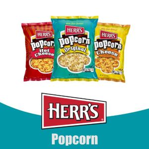 Herr's® Popcorn, Movie Theater, Fire Roasted, Caramel Corn and Go Lite! Popcorn